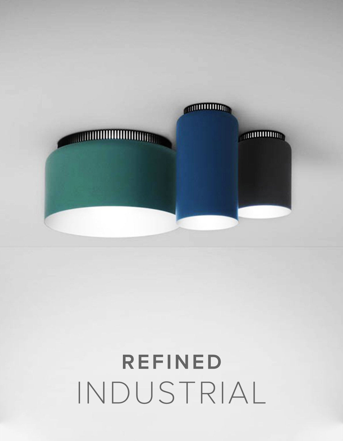 Refined Industrial Ceiling Lights