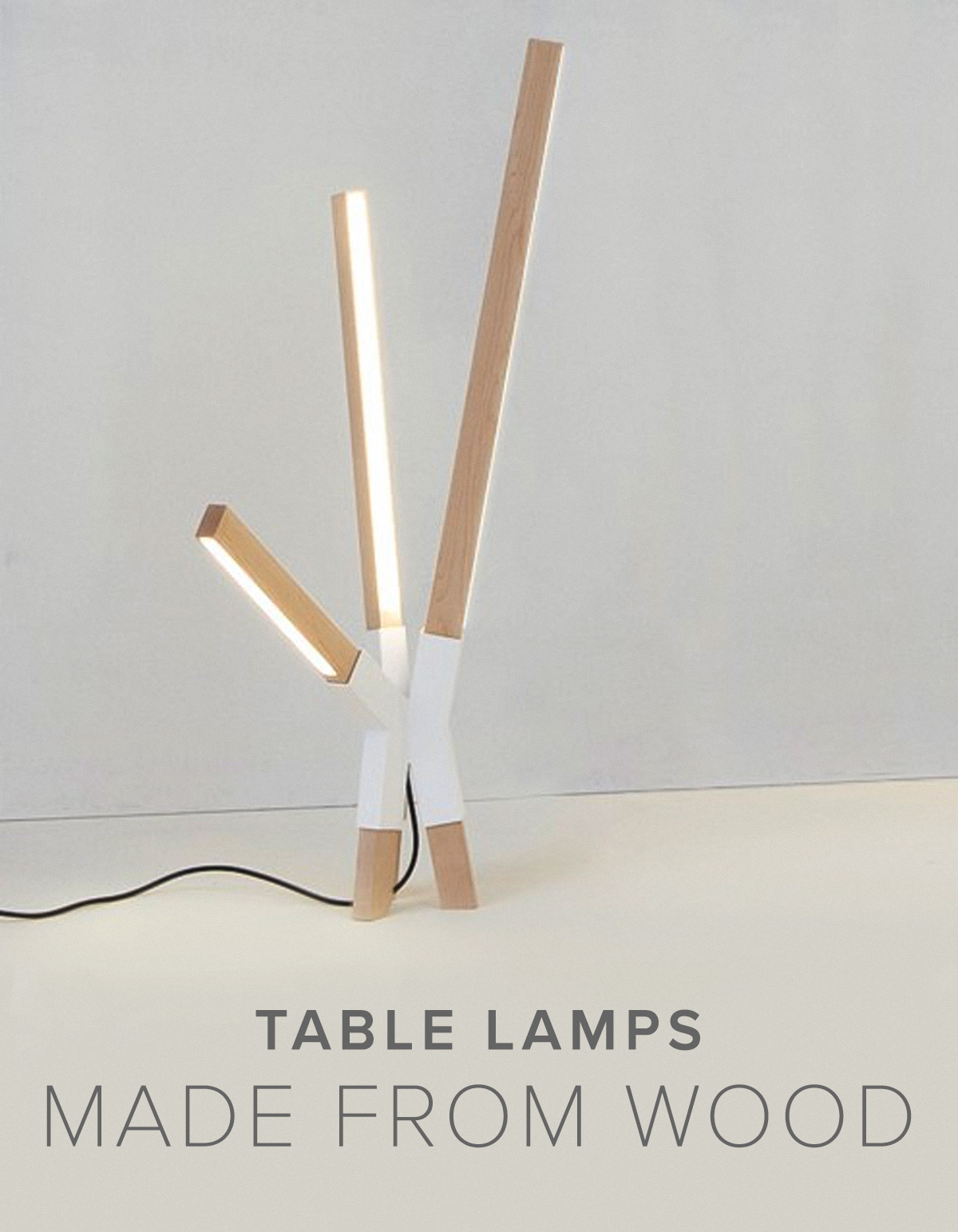Lamps Made from Wood