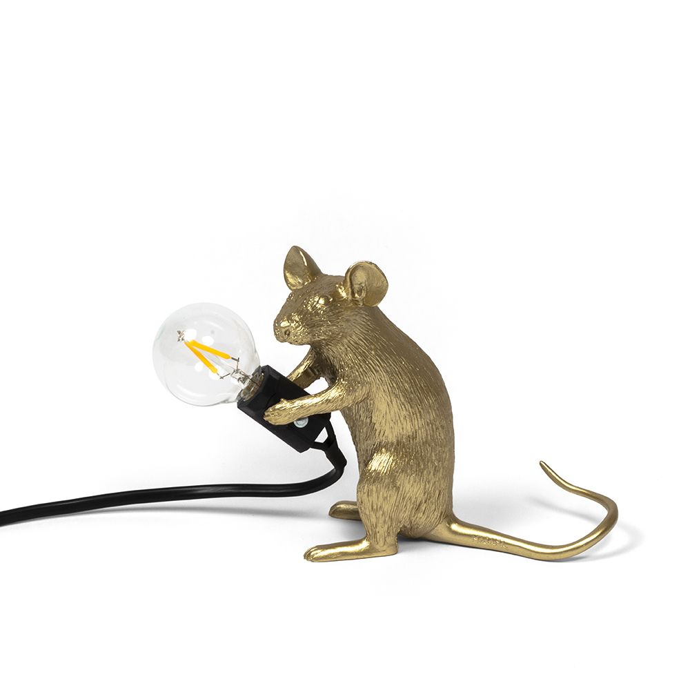 Mouse Lamp Gold Table Mac